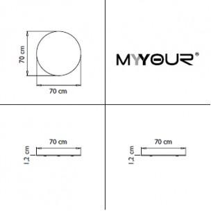 Piano ABS per tavolino Mr. Lem by MyYour